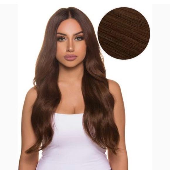 "bellami Accessories - Bellami 18""Chocolate Brown tape in hair extensions e706aa168b"